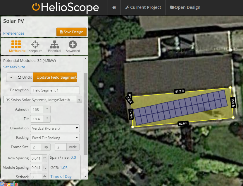 Designing your solar pv system in Heleoscope